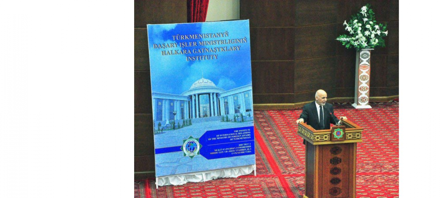 THE PRESIDENT OF AFGHANISTAN VISITED THE INSTITUTE OF INTERNATIONAL RELATIONS OF THE MFA OF TURKMENISTAN